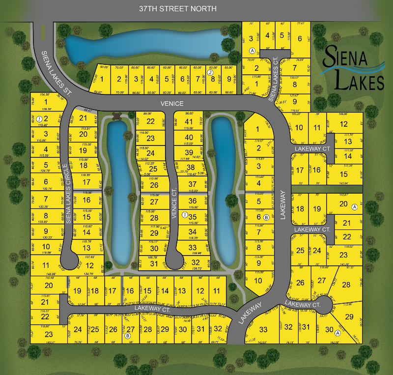 Siena Lakes Plat Map